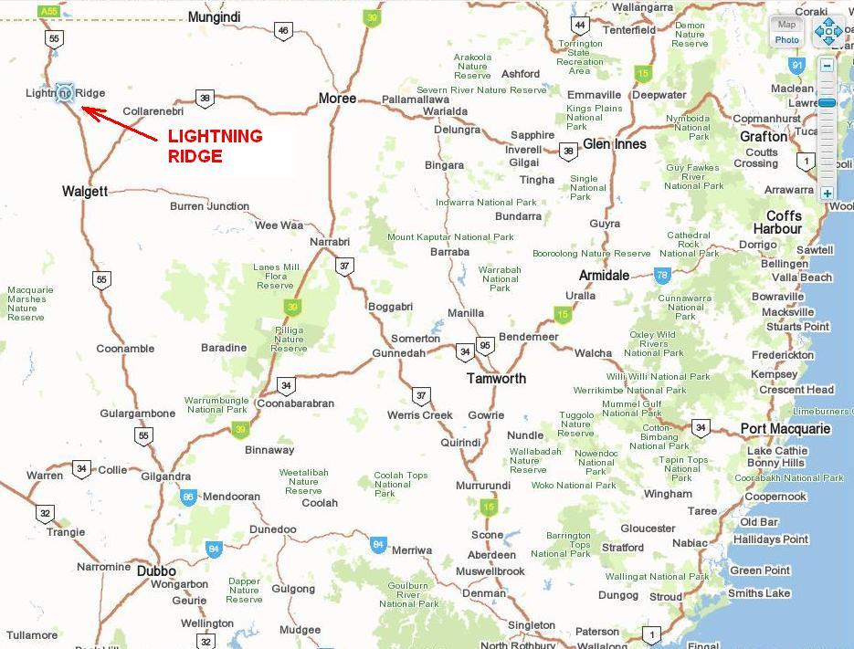find lightning ridge holiday park